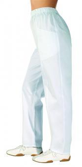 Damenhose Leiber 08/1400, 100% Baumwolle, Gummizug, 2 Längen weiss | 50