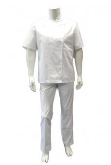 Unisex Kochjacke BP 1509, 100% Baumwolle, Kugelknöpfe, weiß