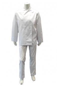 Unisex Kochjacke BP 1517, Mischgewebe, Kugelknöpfe, weiß weiß | XL | 65% Polyester / 35% Baumwolle