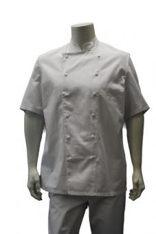 Kochjacke BP 1556, 100% Baumwolle, Kappendrucker, weiß