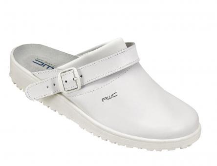 Damen-Sandale, AWC 17100, weiß, mit Ristpolster, küchengeeignet