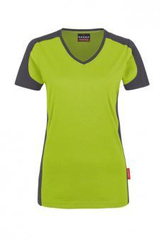Hakro 190, Women-V-Shirt-Contrast Performance, 50/50 Mischgewebe, bis 6XL!