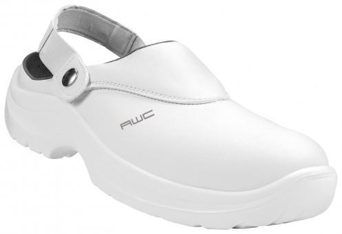 Sandale SB, AWC 23144, ECO Safe, weiß, mit Stahlkappe, küchengeeignet