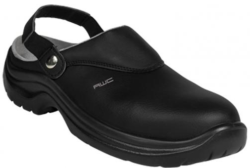 Sandale SB, AWC 23144, ECO Safe, schwarz, mit Stahlkappe, küchengeeignet